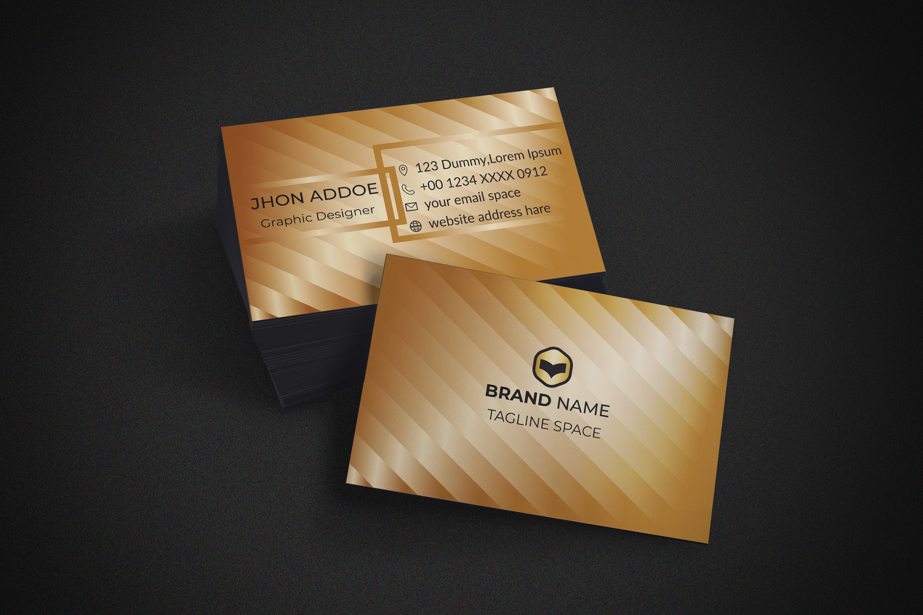 i will design premium class business cards for you