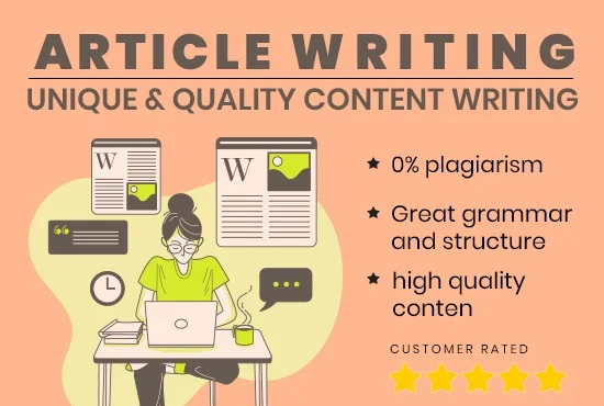 I will write premium SEO optimized article and blog post