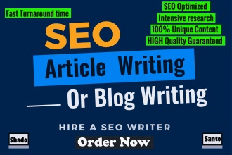I will write 2000 words article for you