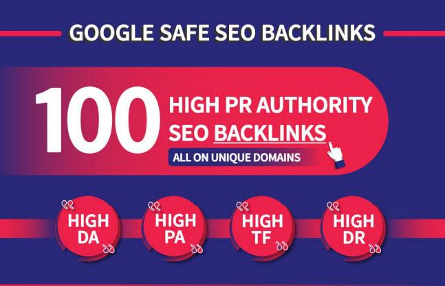 do 100 high quality seo backlinks for ranks your website