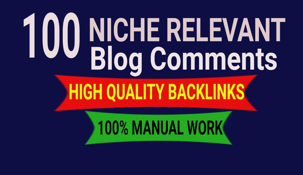 do 100 high quality niche relevant SEO backlinks