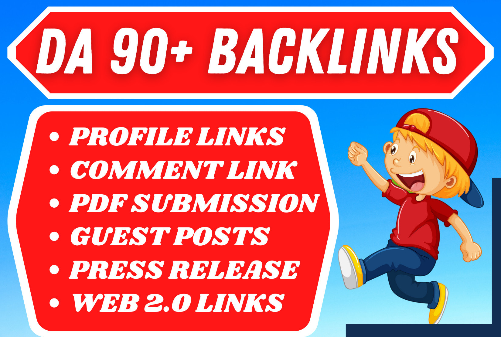 build 65 manual white hat monthly SEO backlinks