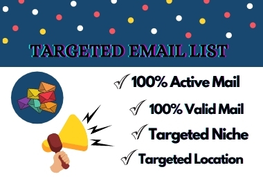 I will provide you targeted millions of email list for Email marketing