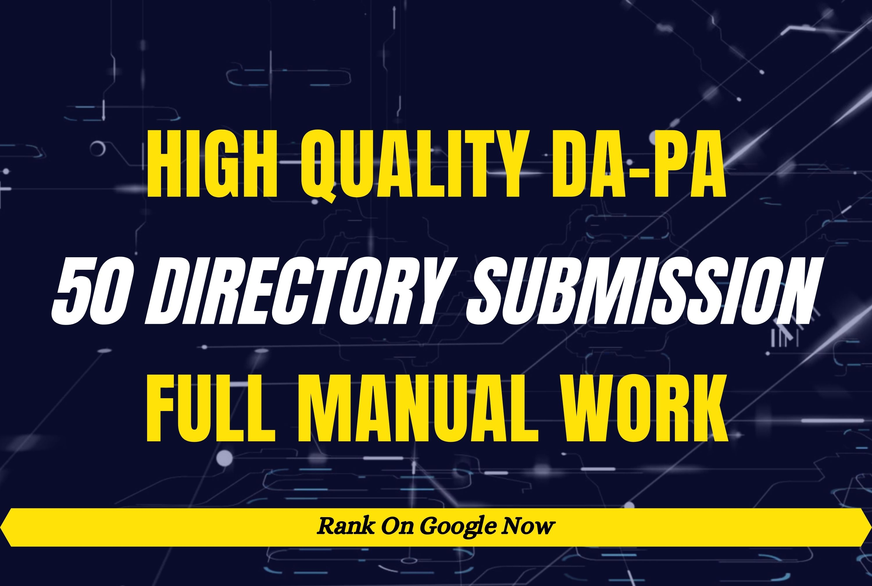 50 High Quality Directory Submission Manually