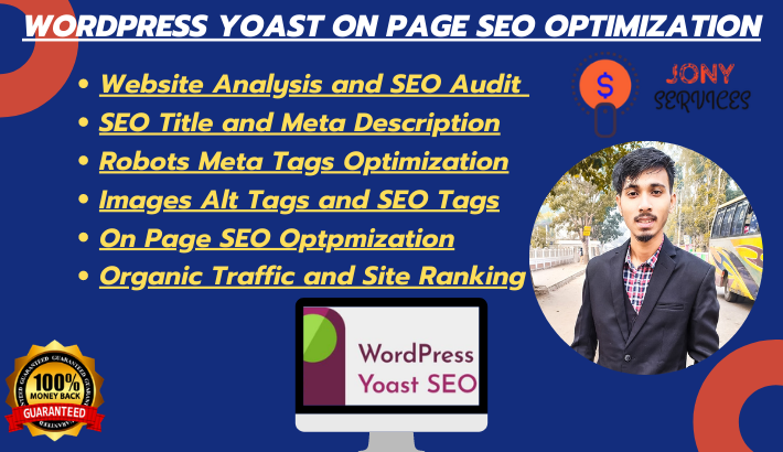 I will do onpage yoast SEO optimization for wordpress to rank high