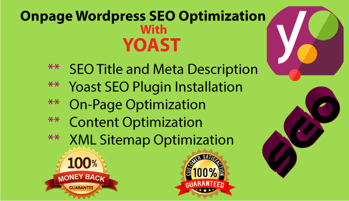 I will do Optimize your WordPress Onpage SEO with Yoast