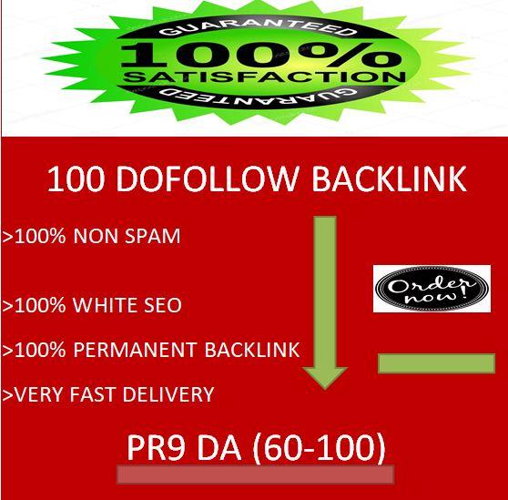 i will provide 100 dofollow backlink with PR9 & DA 60-100 for seo ranking.
