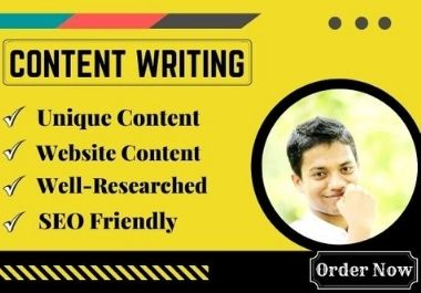 I will write impressive content for your website or blog.
