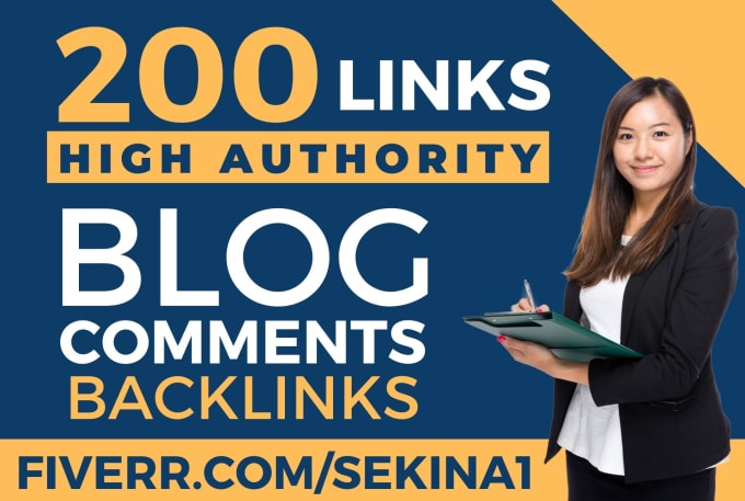 i will provide 200 blog comment high da pa backlink