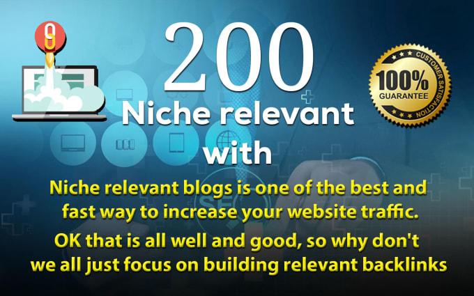 I Will do 200 niche relevant blog comment