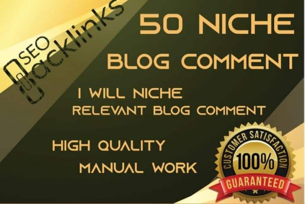 I Will do 50 niche relevant blog comment