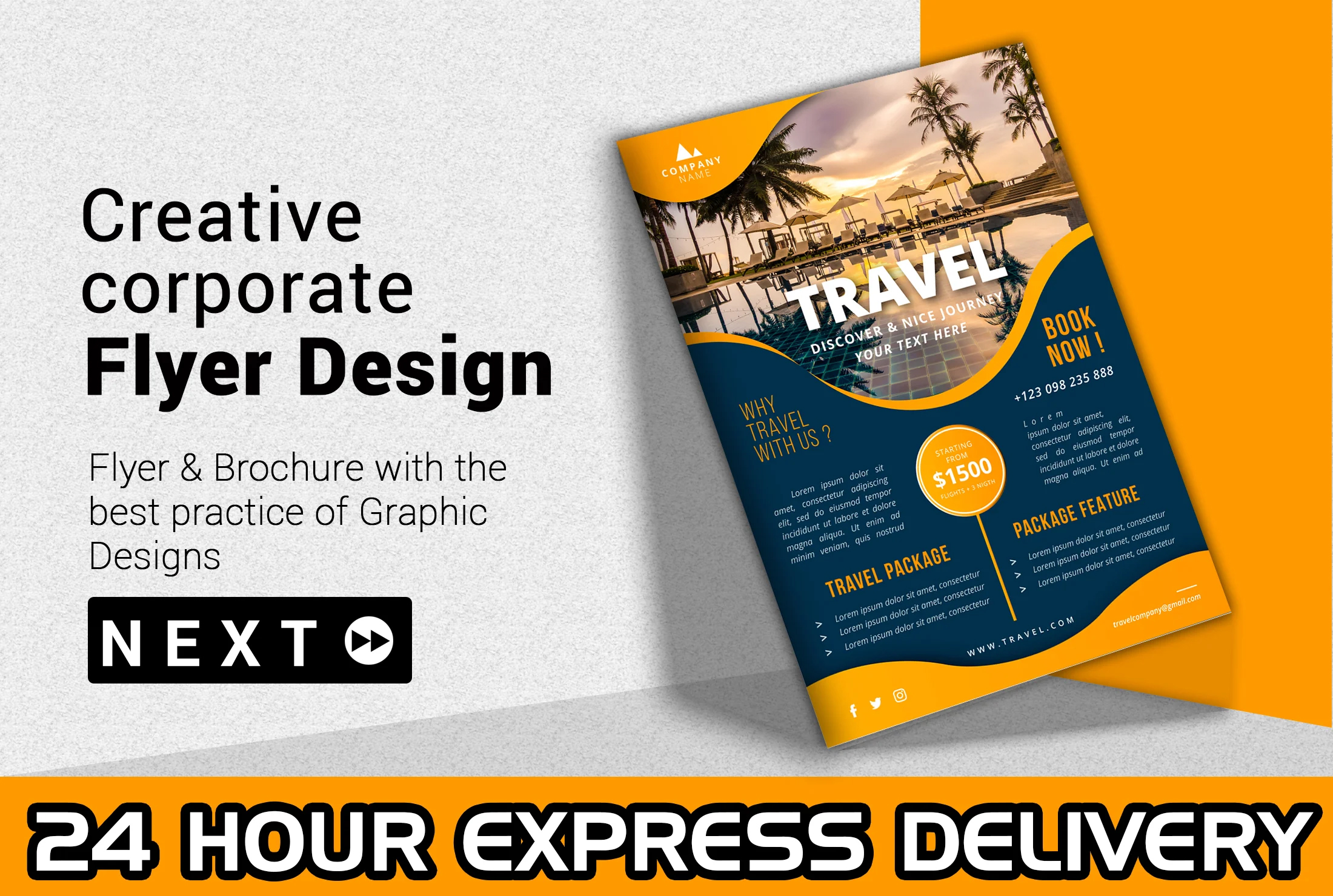 I will design an amazing flyer,  Poster and brochure amazing Poster