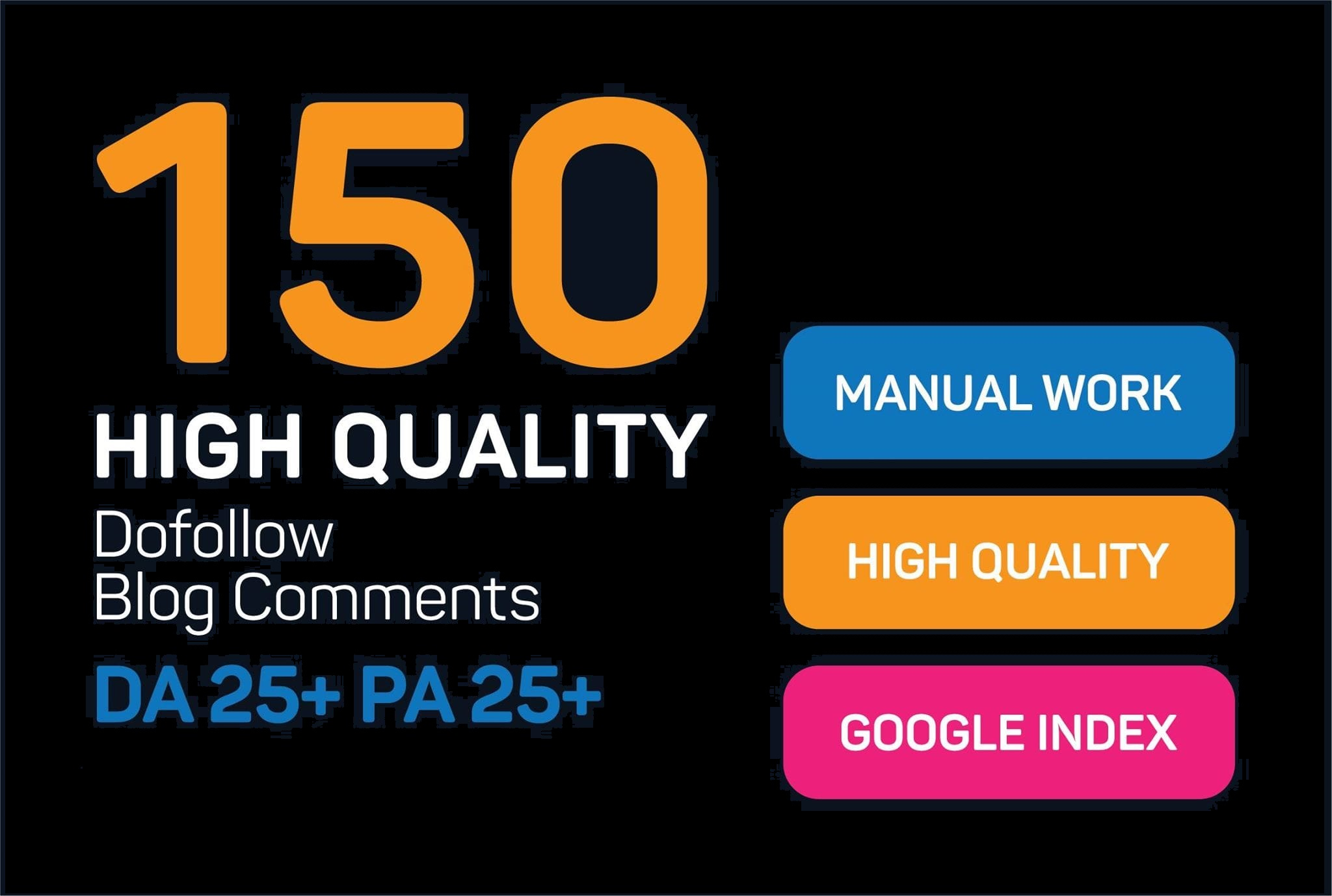 I will create 150 manually high quality do follow blog comments