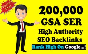 I will build 2,00000 gsa dofollow backlinks for google ranking