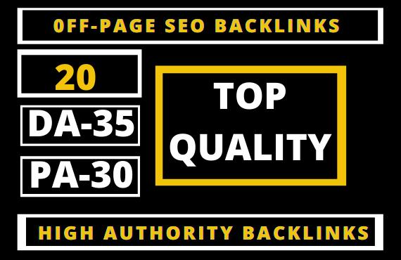 20 Permanent PBN Backlinks Web2.0 with High TF/CF/DA 35/PA Do-follow Links Homepage Unique website