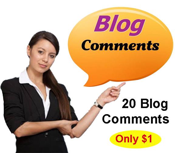 20 Niche Relevant Manual Blog Comment Backlinks Creation