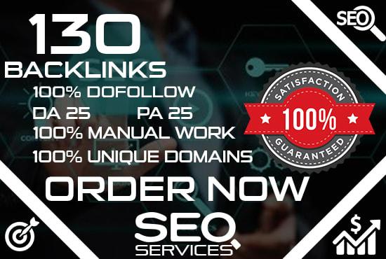 I will do 130 high authority dofollow backlinks