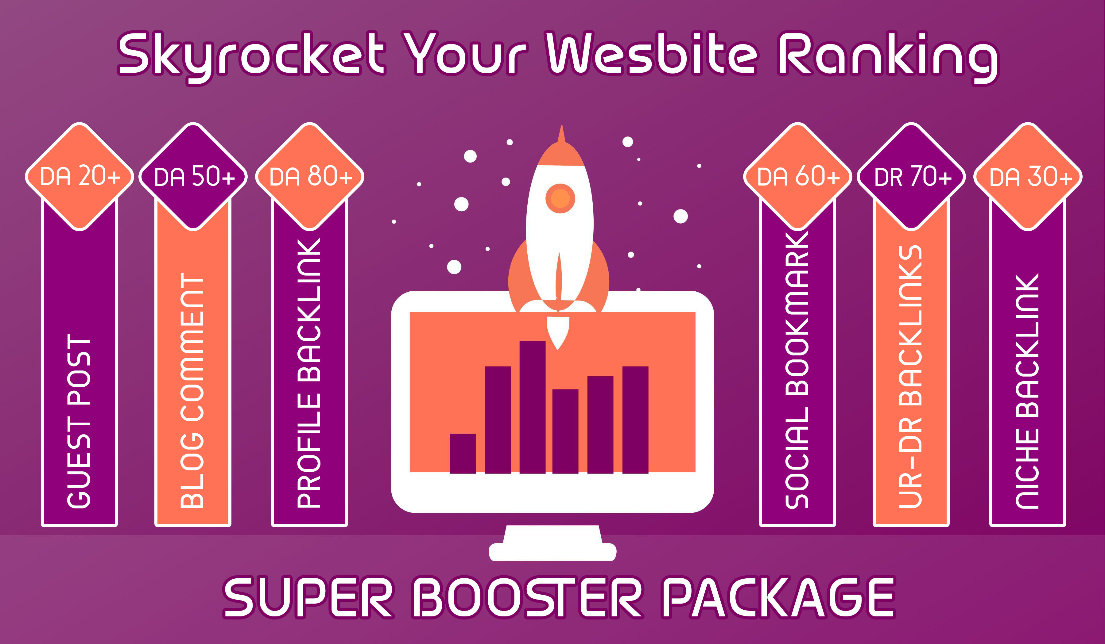 Skyrocket Your Website Ranking - Super Booster Package