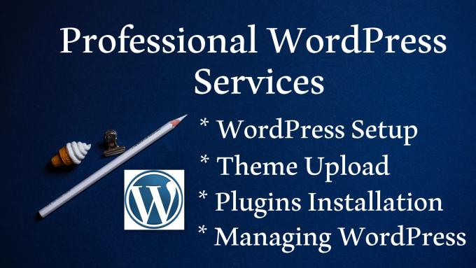 I will install wordpress themes and plugins