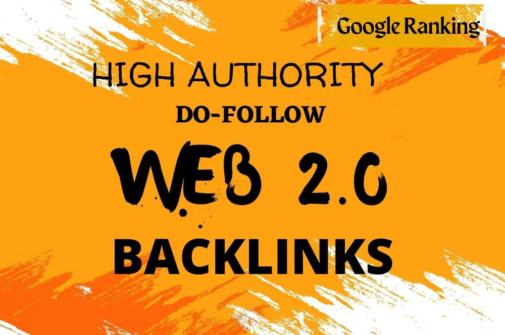 I will create 40 manual authority web 2.0 backlinks for google top ranking