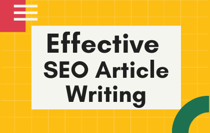 1500 words Effective SEO Article Writing