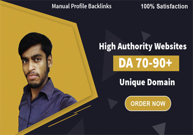 I will create 30 SEO profile backlinks high domain authority Site