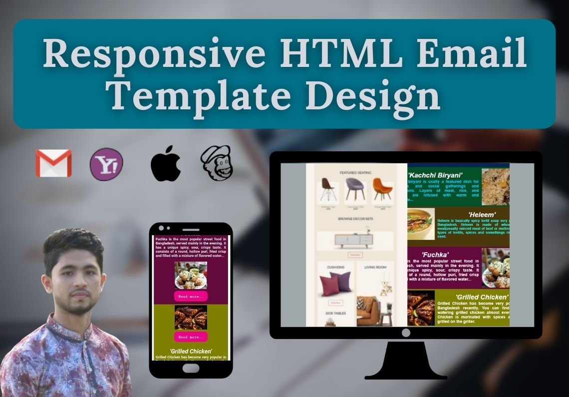 I will make responsive and professional HTML Email templates design or Newsletter.