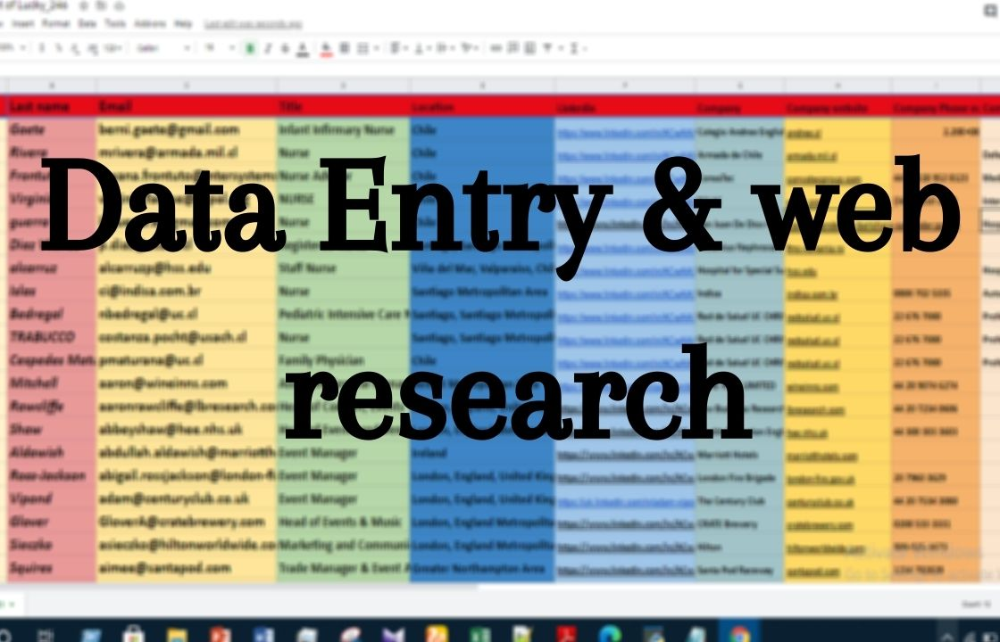 I will do data entry,  data mining and web research for your business