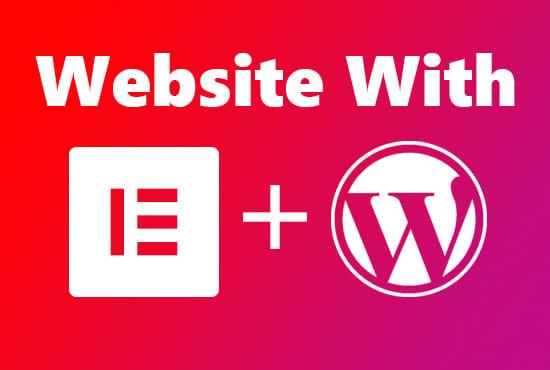 I will design responsive WordPress website using elementor pro page builder