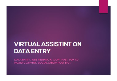 Be your trusted virtual assistant with Data Entry and Social Media Manager