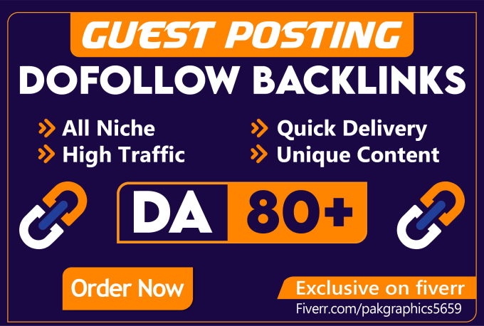 I will create 80 Guest p0st Dof0llow Backlinks