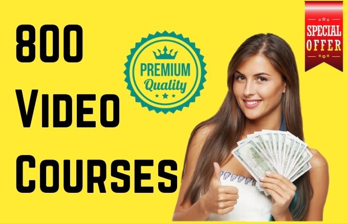 I will provide you with 800 video courses high quality plr content