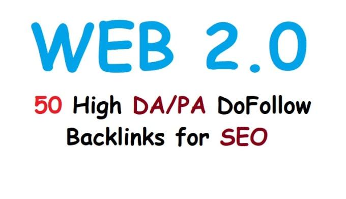 I will provide 30,  high quality SEO web 2 0 backlinks