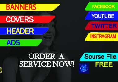 I will design an attractive facebook cover photo design and social media post