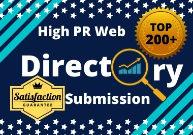 Provide 200 high authority directory submissions.