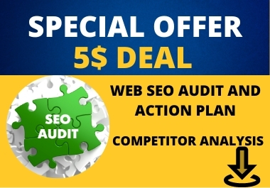 I will provide a SEO audit report and action plan