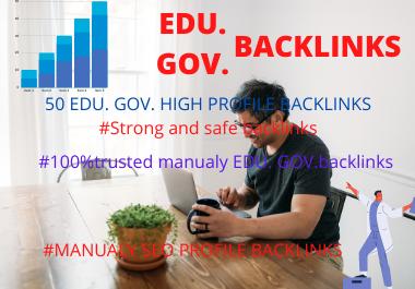 I will make 50 GREAT EDU. GOV. profile backlinks