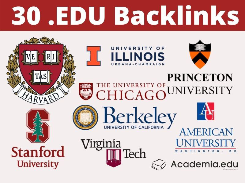 30 Edu Backlinks High DA SEO Authority Tier 2 Backlinks - Fire your Google Ranking