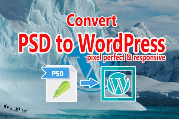 I will convert PSD to WordPress or PSD to HTML, CSS
