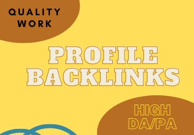I will do 80 profile backlinks