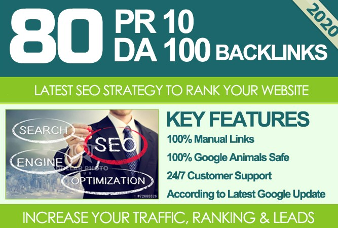 I Will MANUALLY Do 80 UNIQUE PR10/SEO BackIinks on/DA100 sites Plus Links