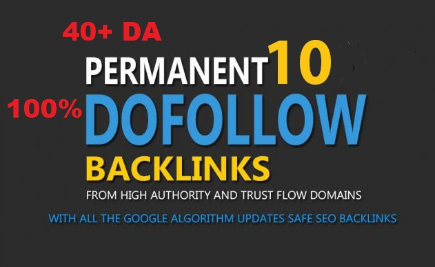 Build 10+ Backlink with high DA PA,  100 DOFOLLOW with Unique websitelink