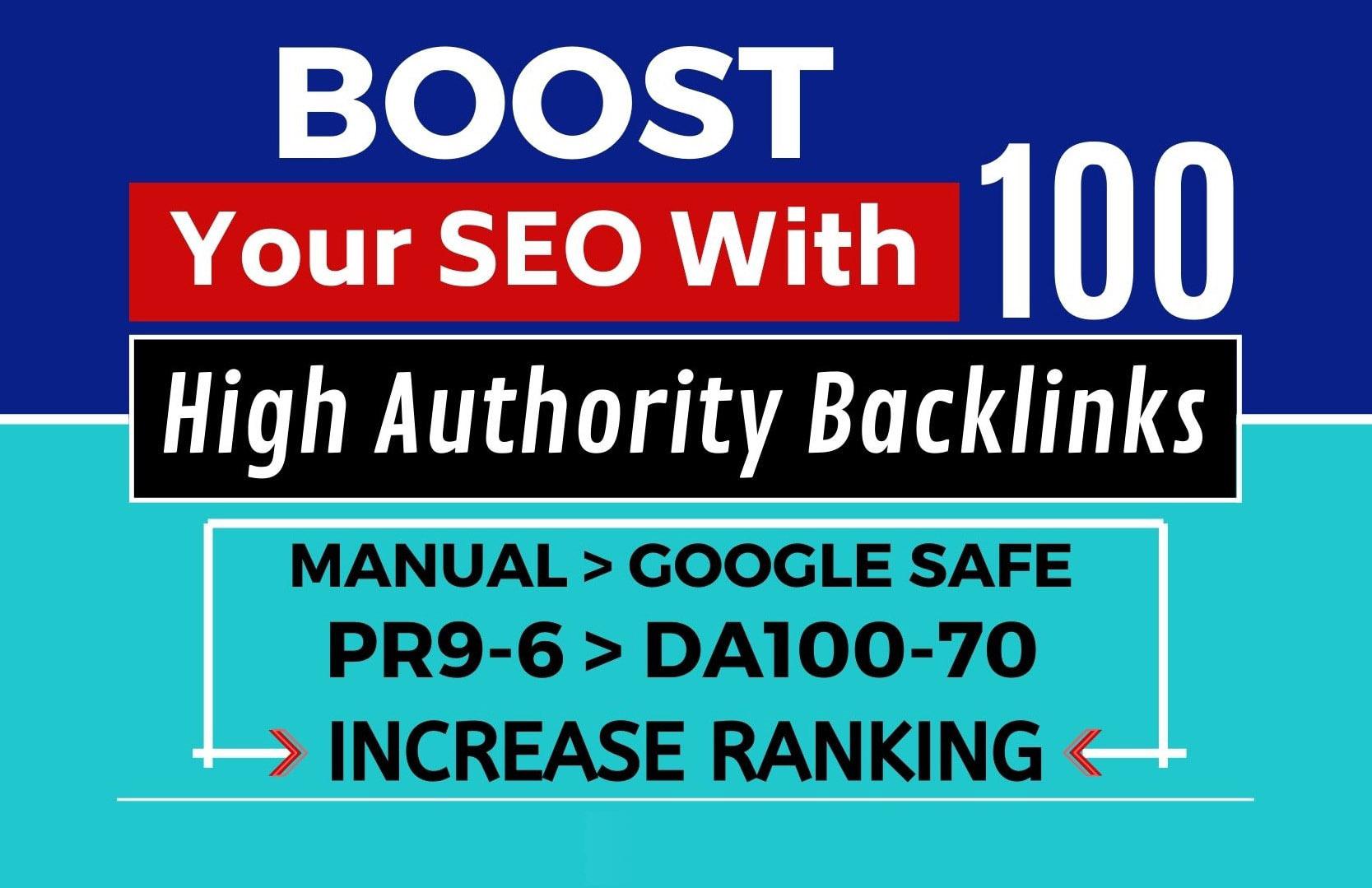 create 100 high da authority backlinks.