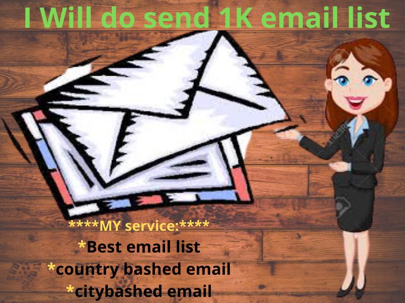 I will bluid 1000 niche-based verified email list