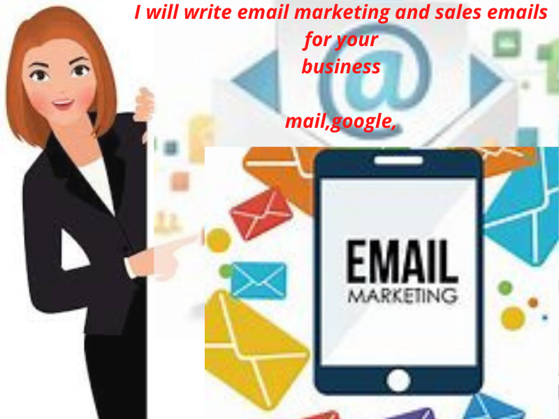 I will write email marketing and sales emails for your business