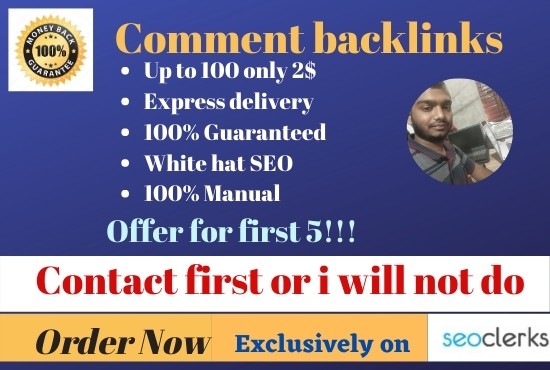 I can make quality blog comments backlinks on high DA PA sites with guarantee