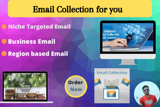 I will collect your niche targeted email list for business