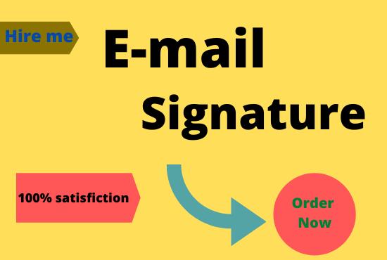 I will create professional email signature