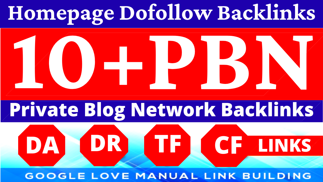 Permanent 10 Homepage PBN Backlinks All Dofollow High Quality Backlinks with unique websites