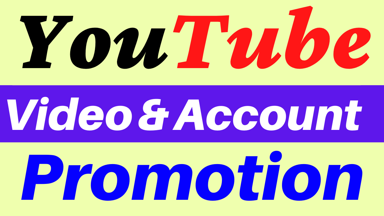 I Will Do Your Youtube Video And Account Promotion With Marketing